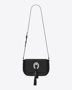 Medium KIM Satchel in Black Leather