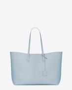 Large SHOPPING SAINT LAURENT Tote Bag in Sky Blue Leather