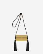 OPIUM MINAUDIÈRE Bag in Gold Plexiglas and Black Leather
