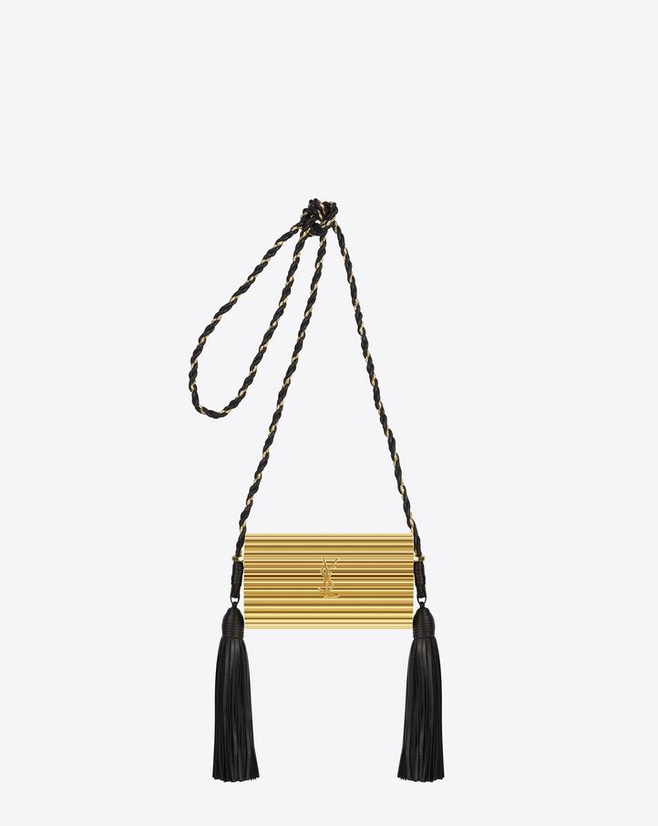 Saint Laurent OPIUM MINAUDI¨¨RE Bag In Gold Plexiglas And Black ...