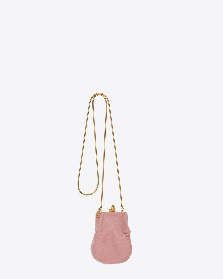 ysl monogram shoulder bag - Saint Laurent Small BIJOUX Serpent Bag In Dusty Rose Velour | YSL.com