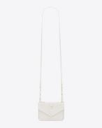 YSL Tri-Pocket Bag in Dove White Leather