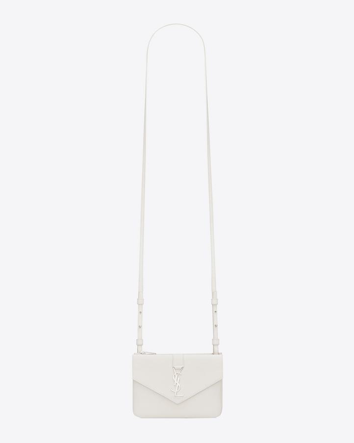 cheap ysl - Saint Laurent YSL Tri Pocket Bag In Dove White Leather | YSL.com