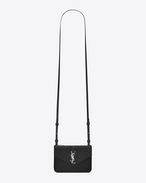 YSL Tri-Pocket Bag in Black Leather