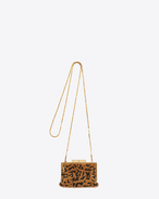 Small BIJOUX Bag in Natural and Black Leopard Sequins