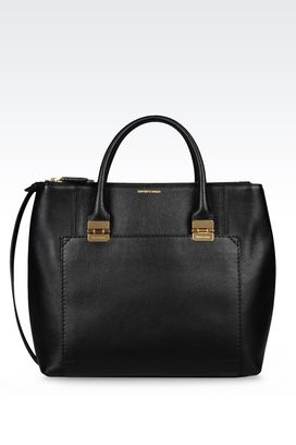 Armani Shopper Donna borsa shopping grande in vitello stampato
