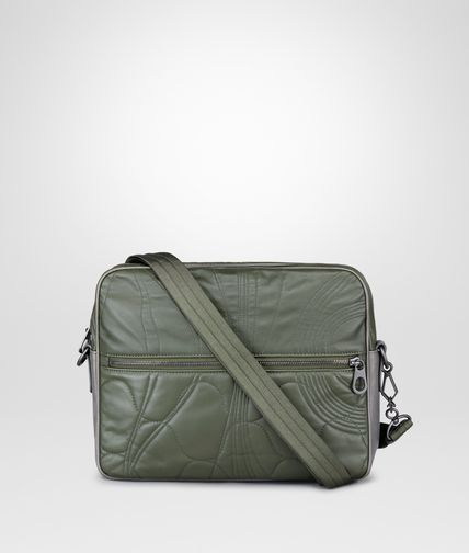 MESSENGER BAG IN DARK SERGEANT QUILTED CALF