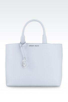 Armani Shopper Donna borsa shopping in eco saffiano con pochette interna