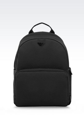 Armani Backpacks Men neoprene backpack