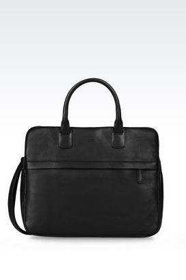 Armani Satchels Men leather briefcase