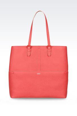 Armani Shoppers Women shopping bag in printed calfskin
