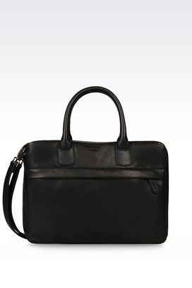 Armani Satchels Men leather briefcase
