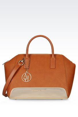 Armani Sacs à main Femme sac boston en simili cuir