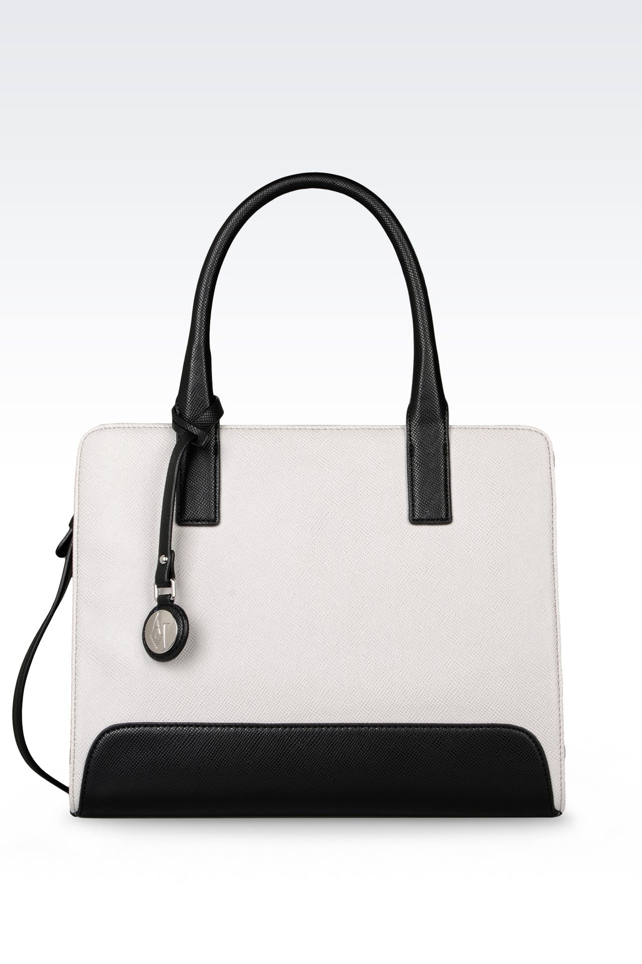 armani jeans women shopper bag in faux leather pvc. Black Bedroom Furniture Sets. Home Design Ideas