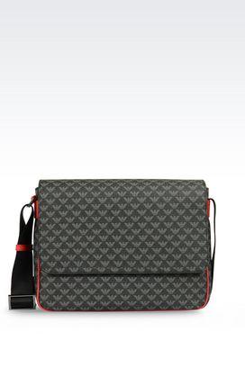Armani Messenger bags Men messenger bag in logo patterned pvc