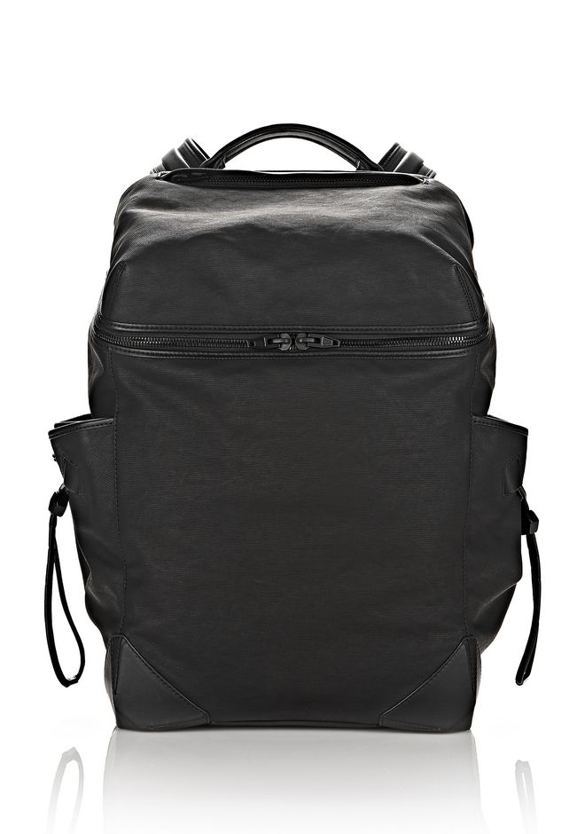 ALEXANDER WANG new-arrivals-bags-man WALLIE BACKPACK IN RUBBERIZED CANVAS WITH MATTE BLACK