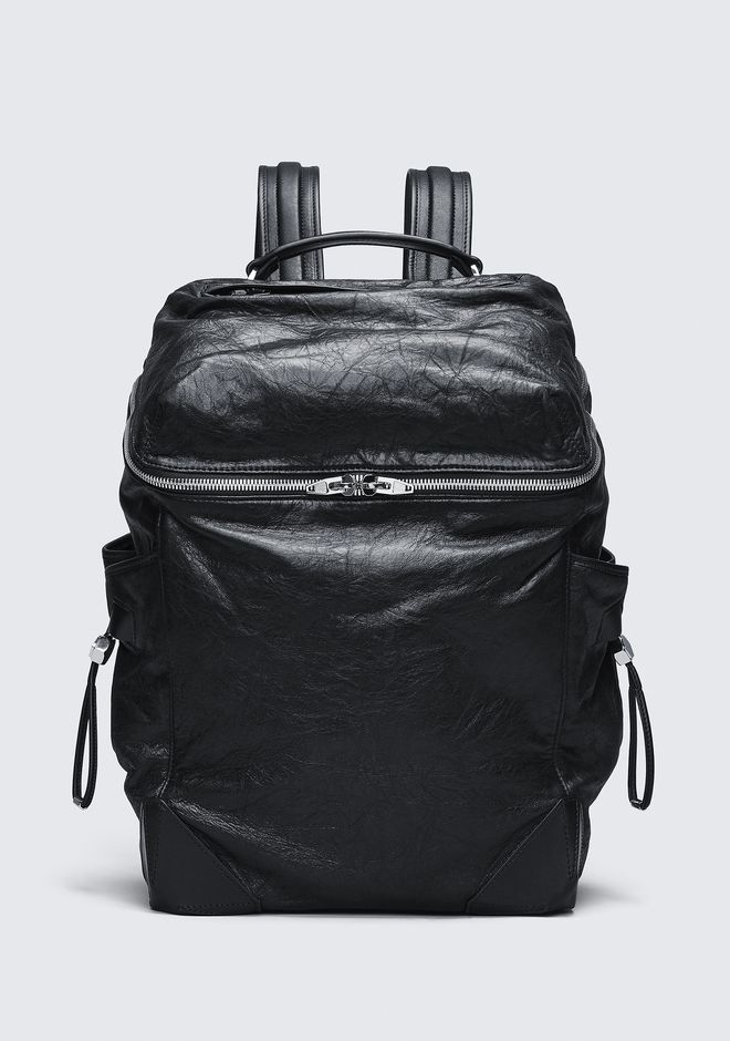 ALEXANDER WANG new-arrivals-bags-man WALLIE BACKPACK IN WAXY BLACK WITH RHODIUM