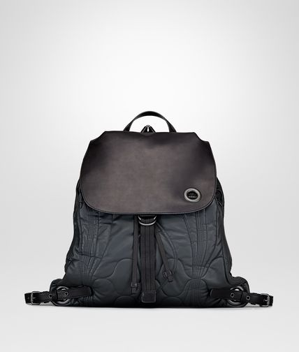 BACKPACK IN ARDOISE QUILTED CALF