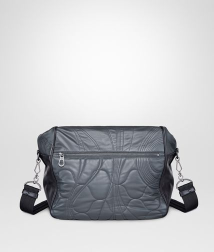 MESSENGER BAG IN ARDOISE QUILTED CALF