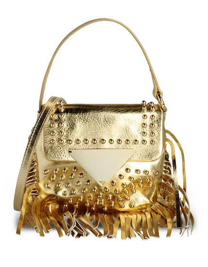 SARA BATTAGLIA Small Leather Bag in Gold