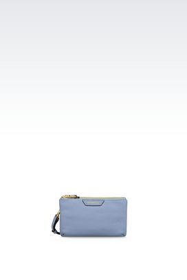 Armani Pochettes Women mini bag in printed calfskin