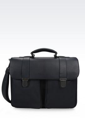 Armani Satchels Men runway briefcase in leather