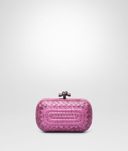 KNOT CLUTCH IN PEONY EMBROIDERED AYERS