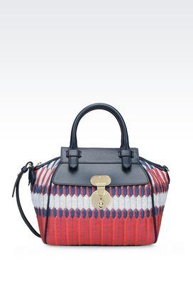Armani Top handles Women runway bauletto bag in jacquard