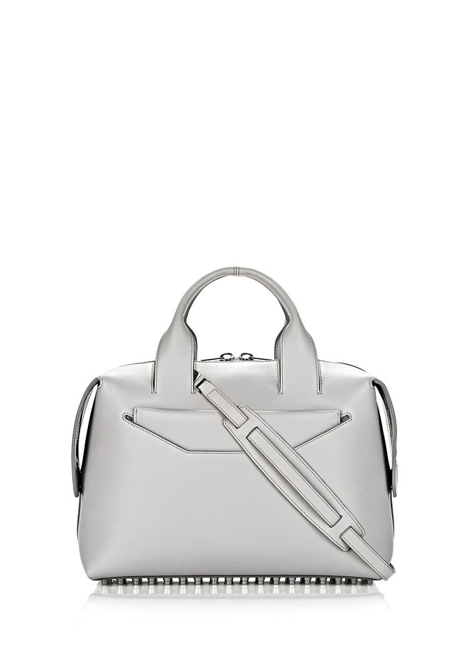 ALEXANDER WANG Shoulder bags Women ROGUE LARGE SATCHEL IN HEATHER GREY WITH RHODIUM