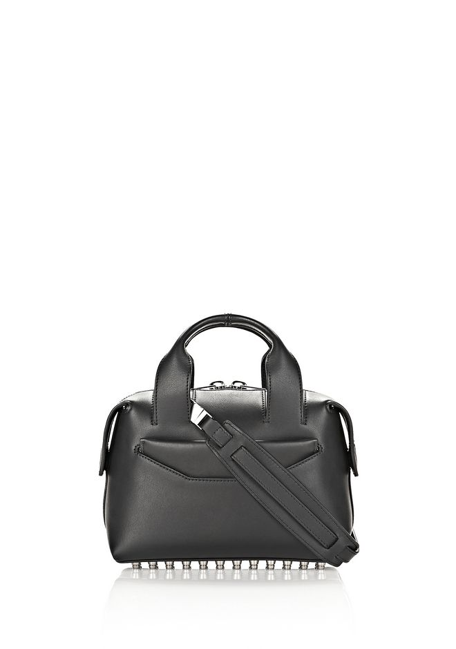 ALEXANDER WANG Shoulder bags ROGUE SMALL SATCHEL IN BLACK WITH RHODIUM