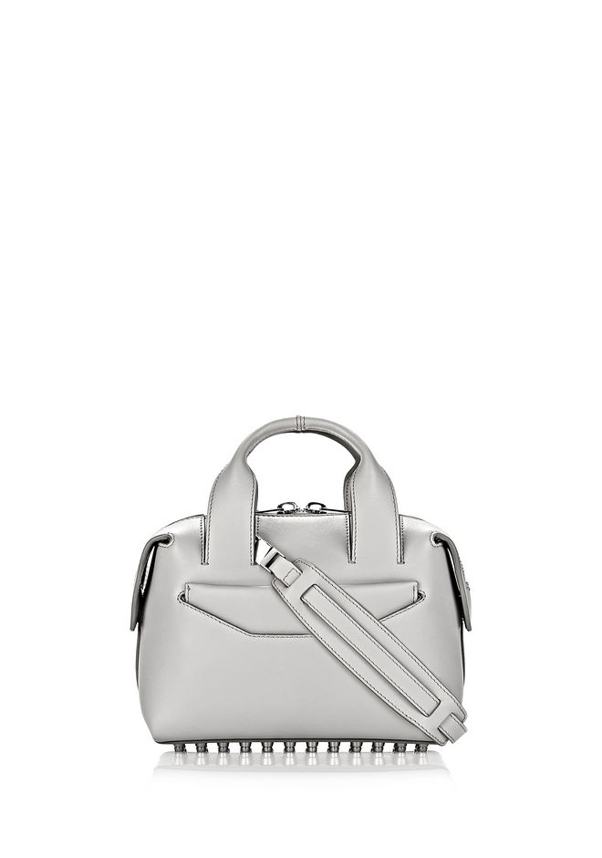 ROGUE SMALL SATCHEL IN HEATHER GREY WITH RHODIUM