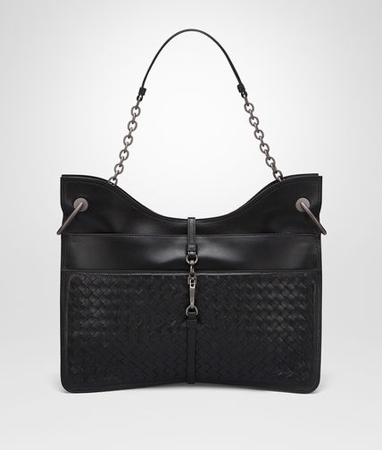 BEVERLY '71/'16 BAG IN NERO INTRECCIATO NAPPA