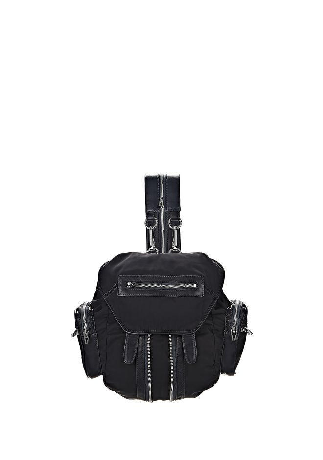 ALEXANDER WANG BACKPACKS Women MINI MARTI IN NEPTUNE LEATHER AND NYLON WITH RHODIUM