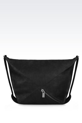 Armani Travel bags Men runway hobo bag in nubuck