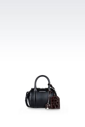 Armani Top handles Women small bauletto bag in smooth calfskin