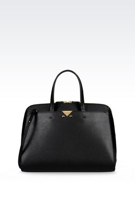 Armani Top handles Women handbag in saffiano calfskin