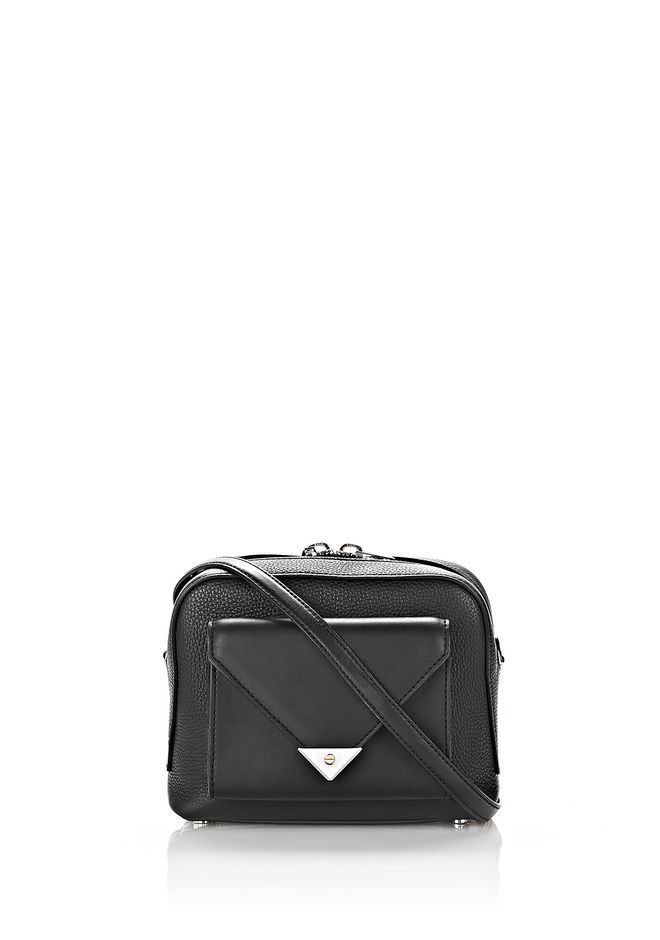 ALEXANDER WANG Shoulder bags PRISMA POCKET CROSSBODY IN PEBBLED BLACK WITH RHODIUM