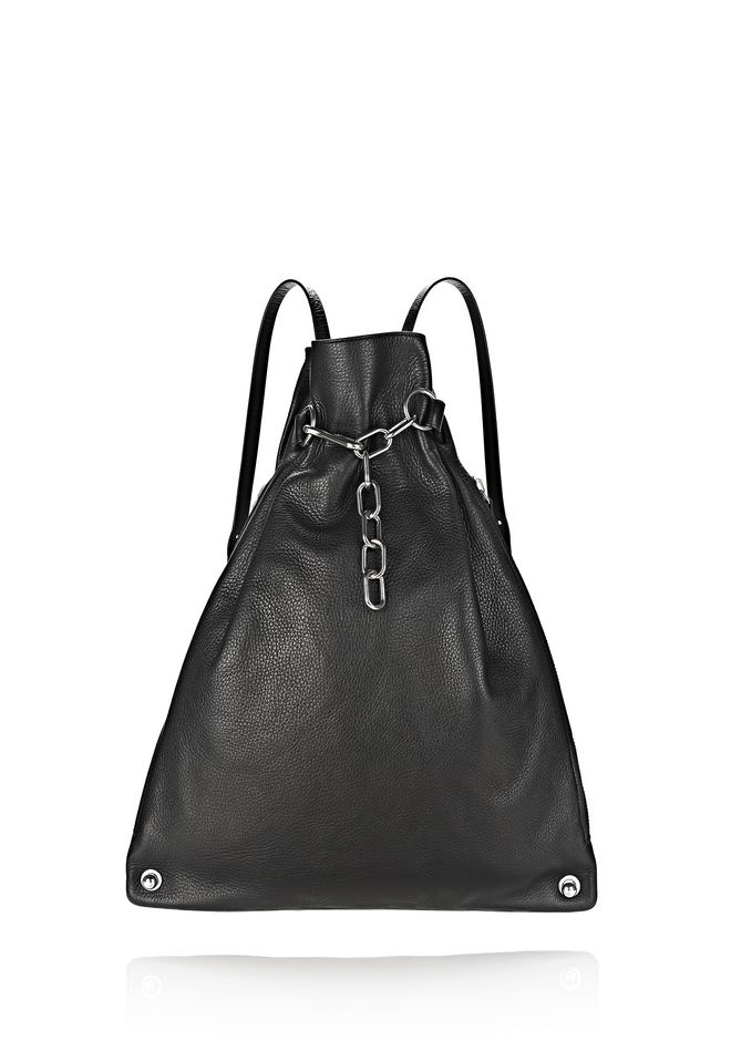 ALEXANDER WANG new-arrivals-bags-woman ATTICA CHAIN GYMSACK IN BLACK WITH RHODIUM