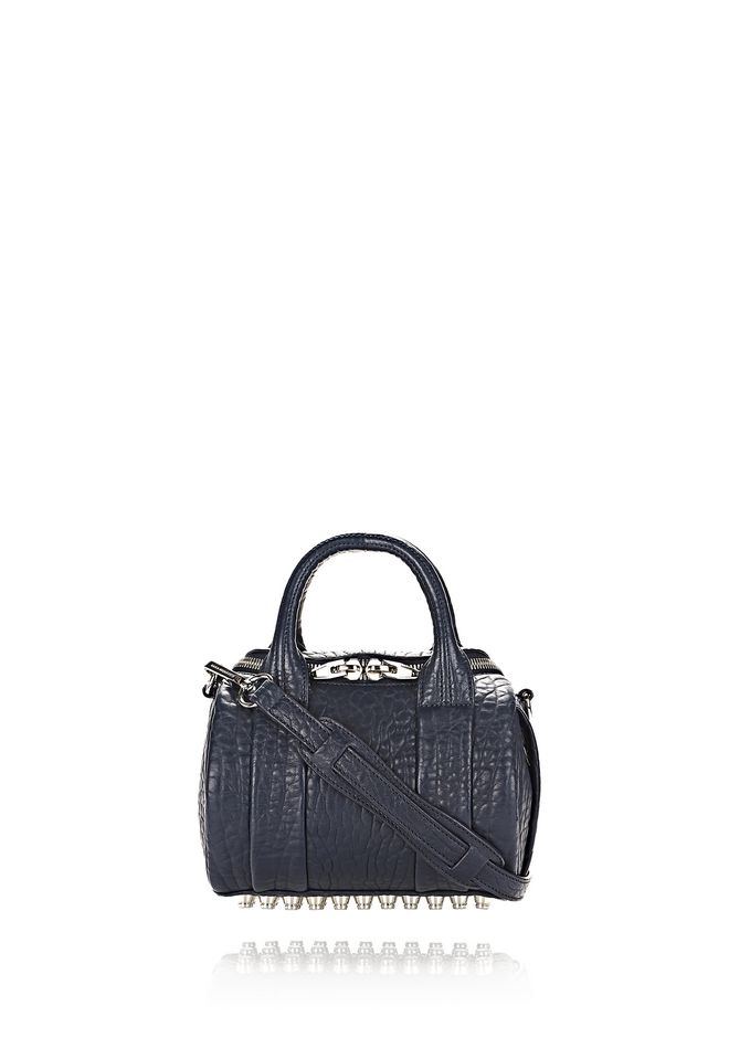 ALEXANDER WANG new-arrivals-bags-woman MINI ROCKIE IN PEBBLED NEPTUNE WITH RHODIUM