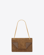 Classic Medium Betty Bag In Ocher Suede and Leather