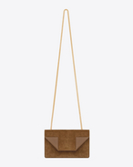 Classic Small Betty Bag In Ocher Suede and Leather
