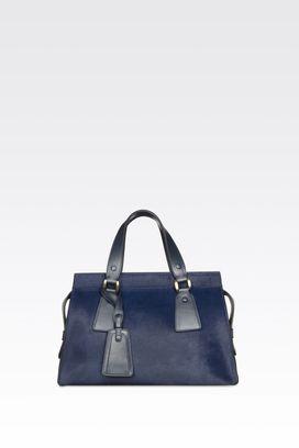 Armani Top handles Women medium le sac 11 bag in pony and calfskin