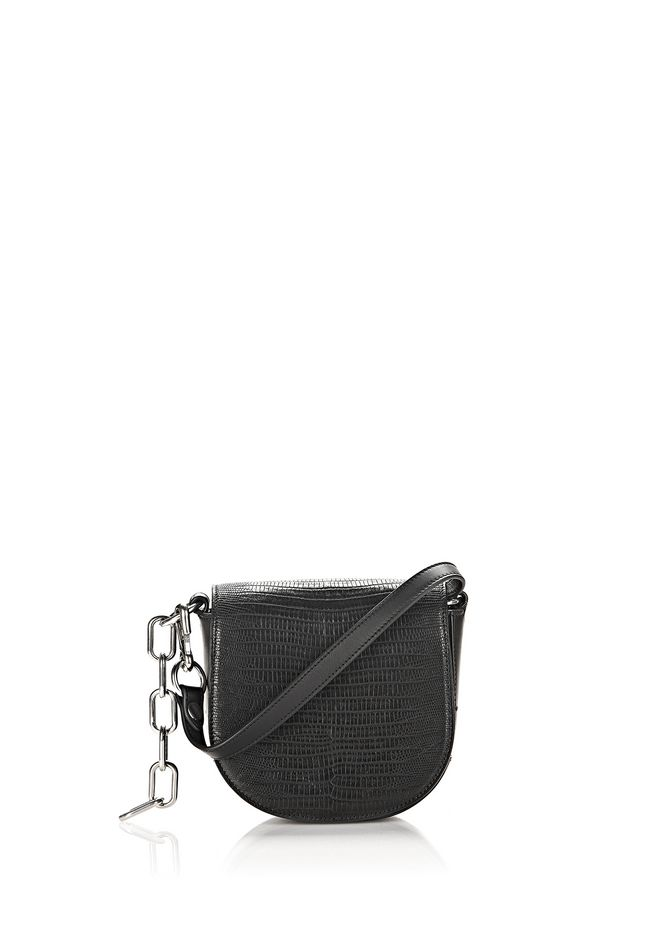 ALEXANDER WANG Shoulder bags MINI LIA CHAIN IN IGUANA EMBOSSED BLACK WITH RHODIUM