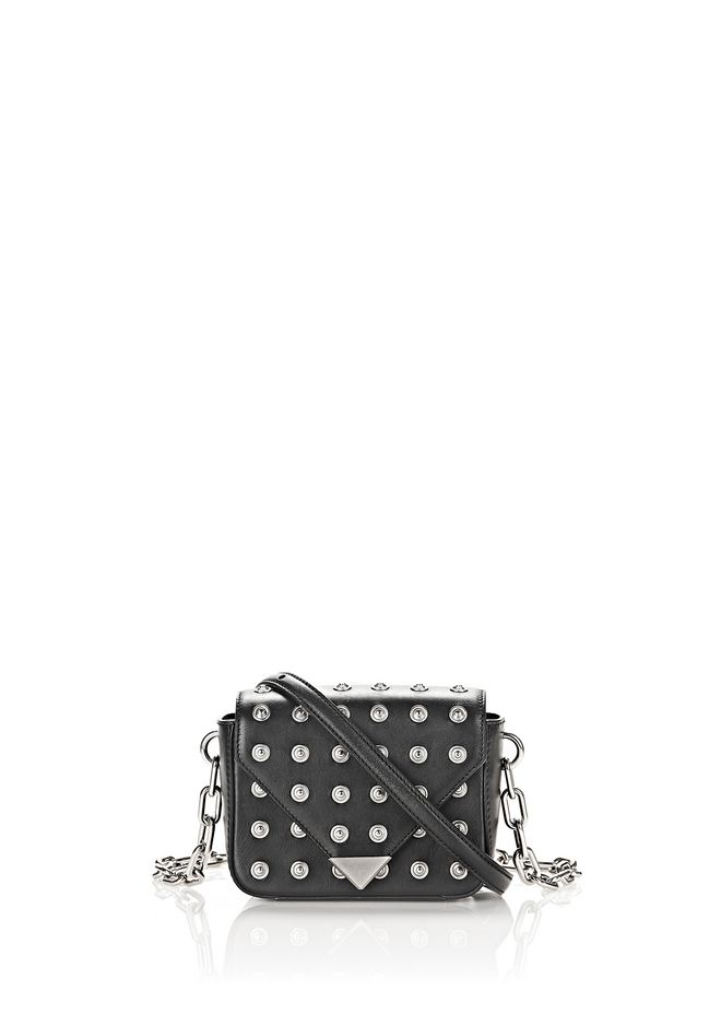 ALEXANDER WANG new-arrivals-bags-woman MINI PRISMA ENVELOPE IN BLACK WITH SILVER