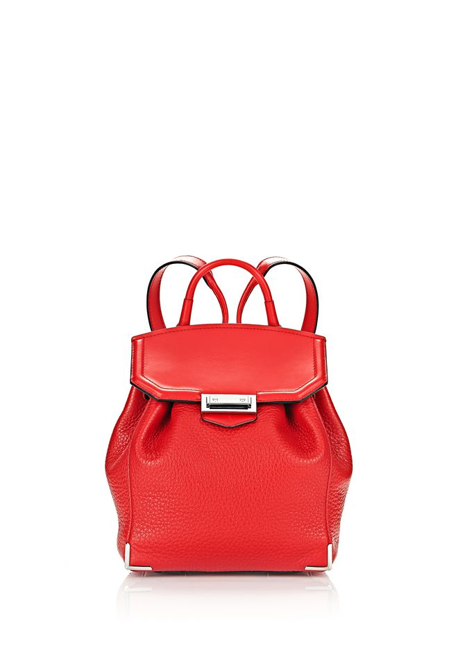 ALEXANDER WANG BACKPACKS Women PRISMA MINI BACKPACK IN PEBBLED CULT WITH RHODIUM