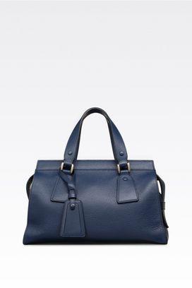 Armani Top handles Women medium le sac 11 bag in deer grain calfskin