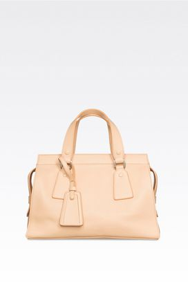 Armani Top handles Women medium le sac 11 bag in deer grain calfskin