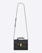 Medium HIGH SCHOOL SAINT LAURENT Satchel nera in pelle