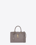 baby cabas monogram saint laurent bag in fog leather