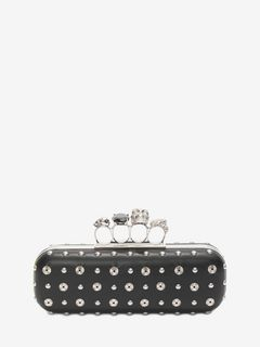 Nappa Studded Knuckle Box Clutch